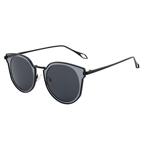 SODIAL(R) Lunettes de soleil UV400 CA Couleur de la lentille Noir Taille unique Nouveau 7CxAzw2N