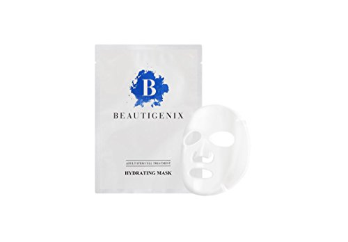 Beautigenix Korean Facial Sheet Mask – Hydrating Serum with Regenerative Stem Cell – Intense Moisture to Fill In Wrinkles and Fine Lines