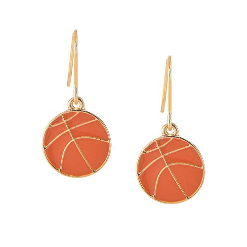 - chelseachicNYC Whimsical Charm Dangle Earrings - Perfect Gift Item - (Basketball)