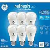 GE Refresh High Definition LED Light Bulb 10.5-watt 5000K Energetic Daylight 800-Lumens 6-Pack 60-watt Replacement Dimmable A19