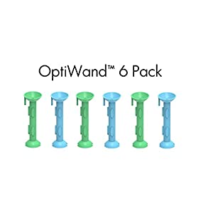 OptiWand - 6 Pack Ultimate Soft Contact Lens Insertion & Removal Tool. Not a suction cup for soft lenses. OptiWand helps pinch them out