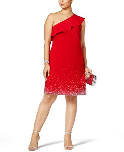 (MSK Women Womens Plus Party Club Wear Cocktail Dress Red 2X )