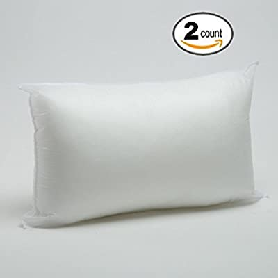"Foamily Parent 12"" x 20"" Pillow Form White Polyester"