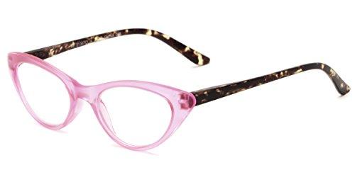 Readers.com | The Stella +2.50 Pink/Tortoise Cat Eye Stylish Women's Full Frame