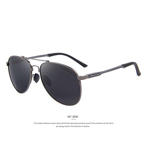 Hombre TR90 de C02 Gris Gray gafas conducir Puente de de gafas sol TIANLIANG04 sol de clásicas aviación titanio aluminio polarizadas HD C02 dXRxHFPq