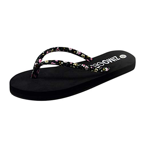 - Clearance!Women Women Summer Slip-resistant Shoes, lkoezi Lady Fashion Floral Sponge Cake Flip-flops Sandals Shoes