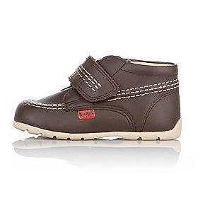 """Kickers Kids """"(les enfants) Kick Hi-Sangle-Marron Chocolat-Core Bottes Chaussures en cuir à Velcro pour enfant"""