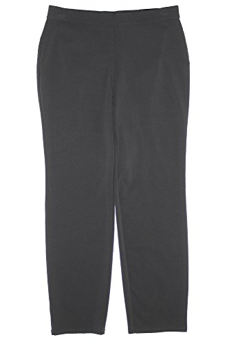 Style & Co Women's Plus Tummy Control Pull On Pants Dark Charcoal (0x)