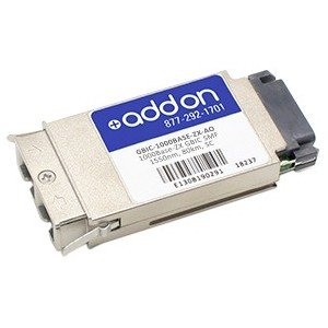 AddOn GBIC Module For Optical Network Data Networking - 1 X 1000base-zx - Optical Fiber - 1 Gbps Gigabit Ethernet GBIC-1000BASE-ZX-AO by Add On
