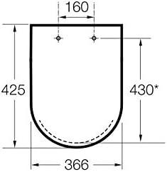 Grafito Roca A801562924 Tapa y asiento para inodoro con ca/ída amortiguada