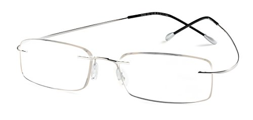 (Specs Flexible Rimless Reading Glasses (Shiny Silver) +2.75)