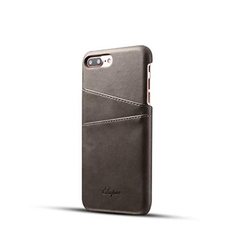 iPhone 7 Leather Case, iPhone 8 Leather Case,Premium PU Leather Wallet Case with Credit Card ID Holders,Business Style Fashion Print PU Leather Case Back Cover for iPhone 7/8, 4.7 Inch(Grey) by SIW WSX