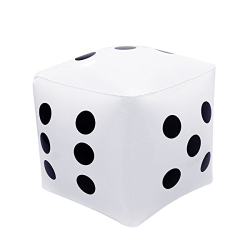 NUOLUX Inflatable Dice for Pool Toy Party Favours Size 32x32CM Color White