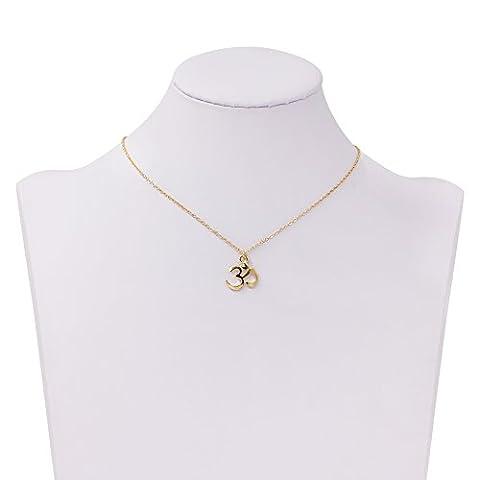 Boosic Ohm Om Yoga Buddha Charm Metal Chain Pendant Necklace For Women