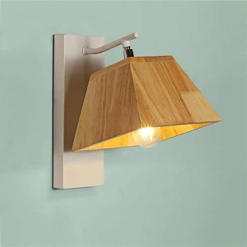 Wall Light Home Hölzerne kreative Wandleuchte Moderne, minimalistische Einführung als Wandleuchte verstellbare Wandleuchte Fugen Schlafzimmer Lounge Wandleuchte Stehleuchte E27