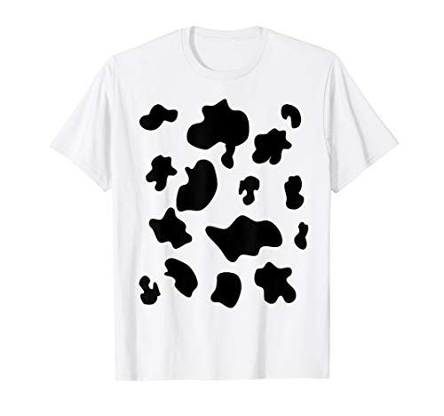 Last Minute Halloween Costume Cow Pattern Spots T-shirt