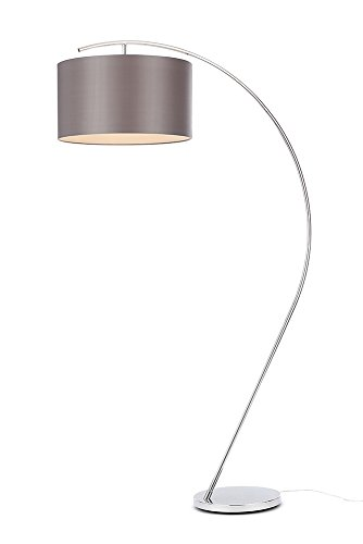 Illuminate Gorgeous Samuel Arched Floor Lamp Shade And Sturdy Base, Metal,...