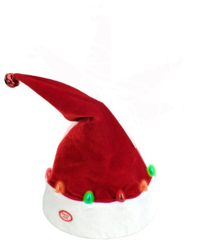 "Chantilly Lane 14"" Dancing Santa Hat with LED Sings ""Jingle Bells"" from Chantilly Lane"