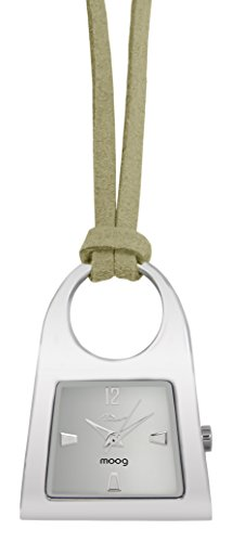 Price comparison product image Moog Paris Pendentif Women's Watch with White Dial,  Off White Strap in Nubuck - M41466-001