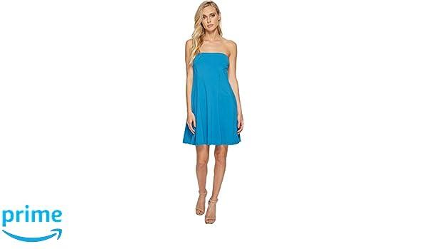 cb1b6c7be919c Amazon.com: Susana Monaco Women's Danielle Strapless Flare Dress Azuline  Small: Clothing