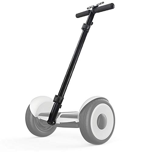 Dual Purpose Segway Handlebar for Minilite Scooter with Kickstand and Phone Mount, Handle Bracket with Knee Control, Self Balance Hoverboard Handle Bar Handle Bracket (Black (Hand Control))