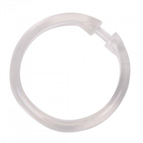 rund Ringe f/ür Duschvorhang /Ø 6 cm Vorhangringe 12 WENKO Duschvorhangringe transparent