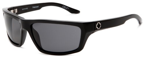Spy Optic Kash Polarized Sport Sunglasses,Shiny Black Frame/Grey Lens,One - Optics Sports Sunglasses
