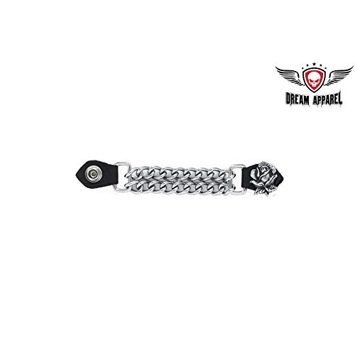 Motorcycle Rose Vest Extender for Motorcycle Jacket (Genuine Leather Snaps,4'')