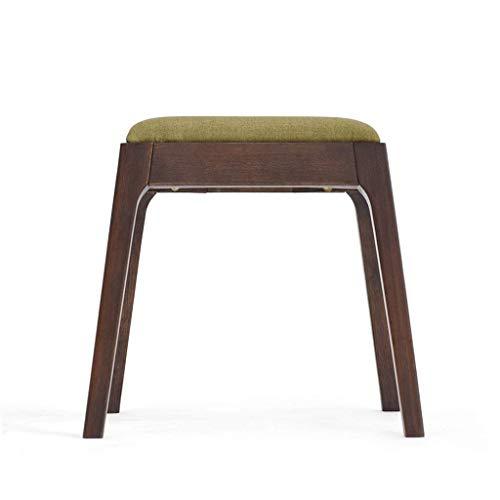 QSHG - Taburete otomano de roble antiguo de estilo japones para muebles de jardin, mesa de madera maciza de roble + algodon y regalo de lino