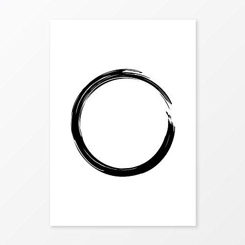 minimalist-circle-print-brushstroke-art-size-5x7-8x10-11x14-and-more-great-modern-wall-art