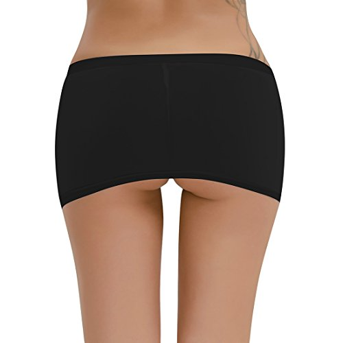 Alvivi Womens Sheer See Through Hip Mini Skirt Night Club Dress Clubwear