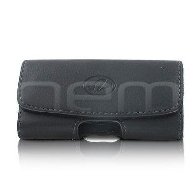 Black Horizontal Stylish Leather Cover Belt Clip Side Case Pouch For RIM BlackBerry Pearl 3G 9100 9105