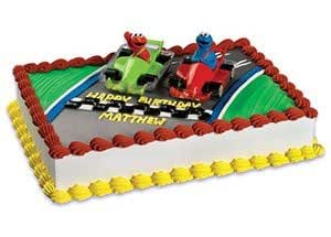 Sesame Street Elmo And Cookie Monster Racers Cake Toppers