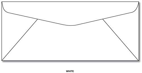10 Fine Laser Paper - White #10 Business Envelopes - Superfine Inc. Brand - (50 Envelopes)