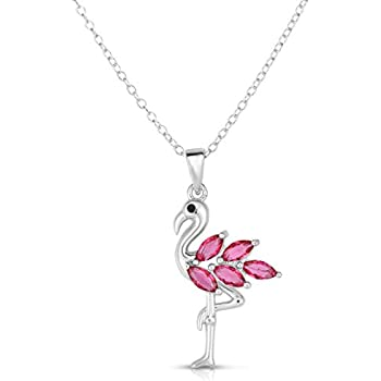 Be A Flamingo Amongst The Pigeons Necklace Message Gift Card Necklace Brand New