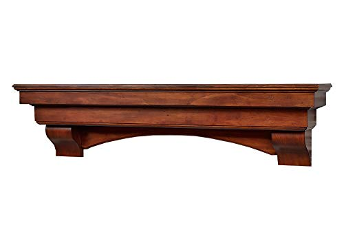 Salem 72 Inch Fireplace Mantel – Aged Cherry