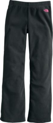 Girls Glacier Pant (TNF Black/Razzle Pink) - Girls Glacier Fleece Pant