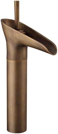 CHENBIN-BB バスルームのシンクは、スロット付き浴室の洗面台のシンクホットコールドタップミキサー流域の真鍮のシンクのヨーロピアンスタイルのレトロな盆地アンティーク蛇口旧ブロンズワイングラスの蛇口の上カウンター盆地全銅の蛇口をタップ