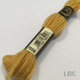DMC Thread Floss for Embroidery Wool 7050 Light Citrus Orange, 1
