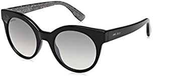 Jimmy Choo Women's Mirta/S Black/Grey Mirror Silver