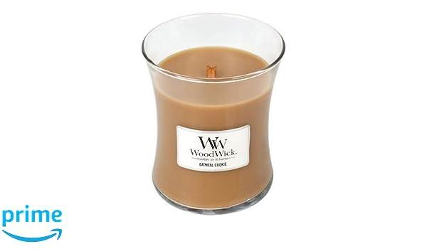 Woodwick Medio Candle-Oatmeal Cookie, marrón, 9,9 x 9,8 x 11,9 cm: WoodWick: Amazon.es: Hogar