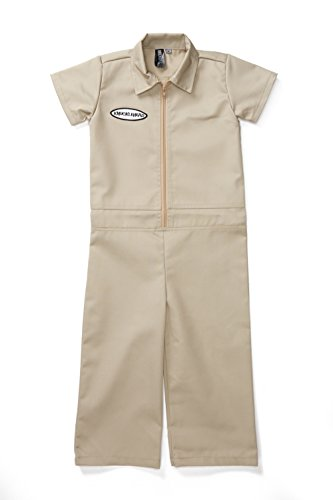 Tan Mom Halloween Costume (Knuckleheads - Infant and Baby Boy Grease Monkey Coveralls Tan 4T)