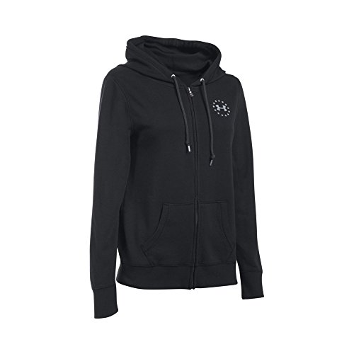 Under Armour Women's Favorite Fleece WWP Full Zip, Black (001)/Glacier Gray, (Glacier Systems Jacket)