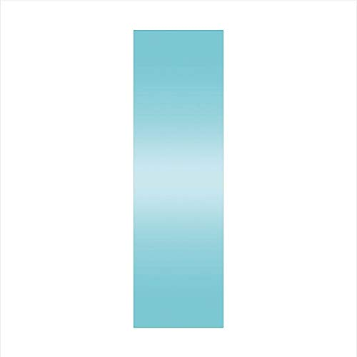 (Decorative Window Film,No Glue Frosted Privacy Film,Stained Glass Door Film,Open Blue Sky on a Spring Day Inspired Blue Colored Modern Design Room Decorations,for Home & Office,23.6In. by 78.7In)