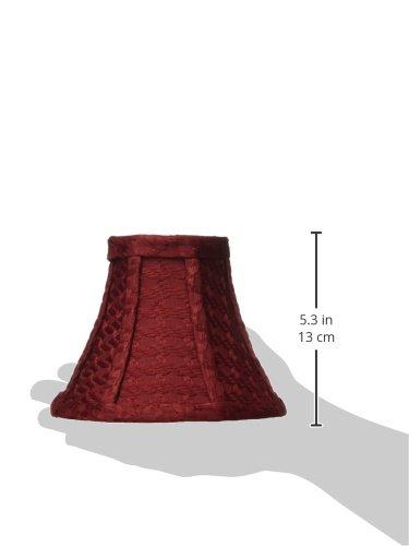 Lite Source CH5107-6 Lamp Shade 6 Burgundy