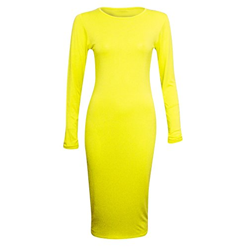 Generic Damen Schlauch Kleid mehrfarbig mehrfarbig Gelb pM9pfG