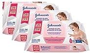 Kit Johnson's Baby Toalhinhas Extra Cuidado 288 unidades