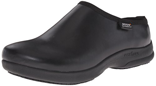 Bogs Women's Oliver Solid Slip Resistant Work Shoe, Black, 8 M US by Bogs