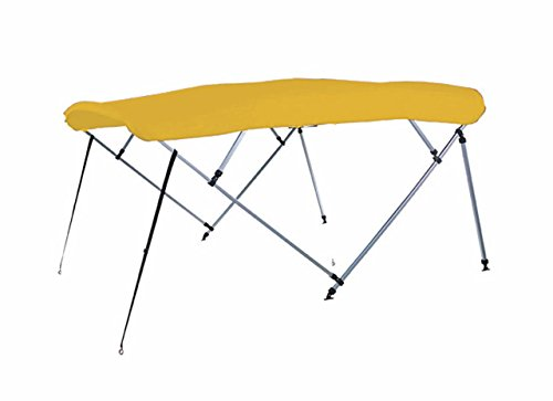 7oz YELLOW 4 BOW SQUARE TUBE BOAT BIMINI TOP with running light cutout SUNSHADE TOP FOR SYLVAN CRUISE 8525 S 2004 by SBU-CV