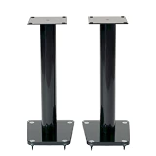 "TransDeco Speaker Stands, 24"", Black -"